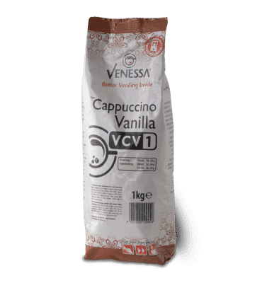 Instantkaffee Packung Venessa Cappuccino Vanilla