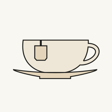 Zeichnung einer Teetasse