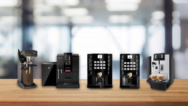 Verschiedene Kaffeevollautomaten fürs Büro